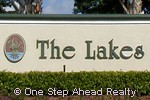 The Lakes community sign